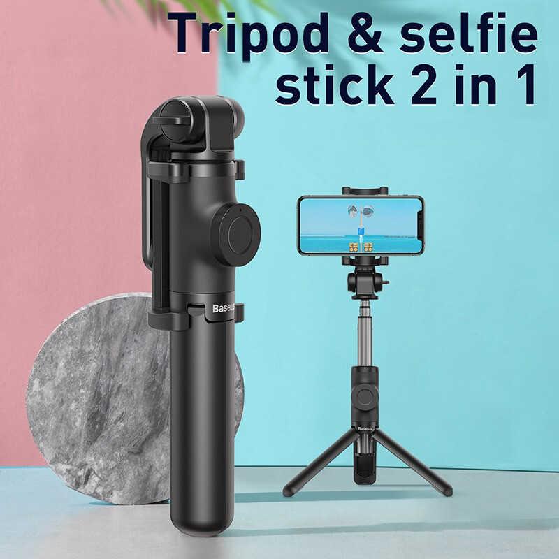 Baseus Bluetooth Bastone Selfie Treppiede Per iPhone 11 Xs Xr X 8 Xiao mi mi Huawei Samsung Del Telefono Mobile mi ni Auto Selfiestick Monopiede