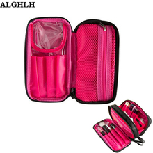 ALGHLH Promotions Waterproof Nylon Cloth Beauty Cosmetic Bag For Women Travel Professional Makeup Brush Organizer Storage Bag