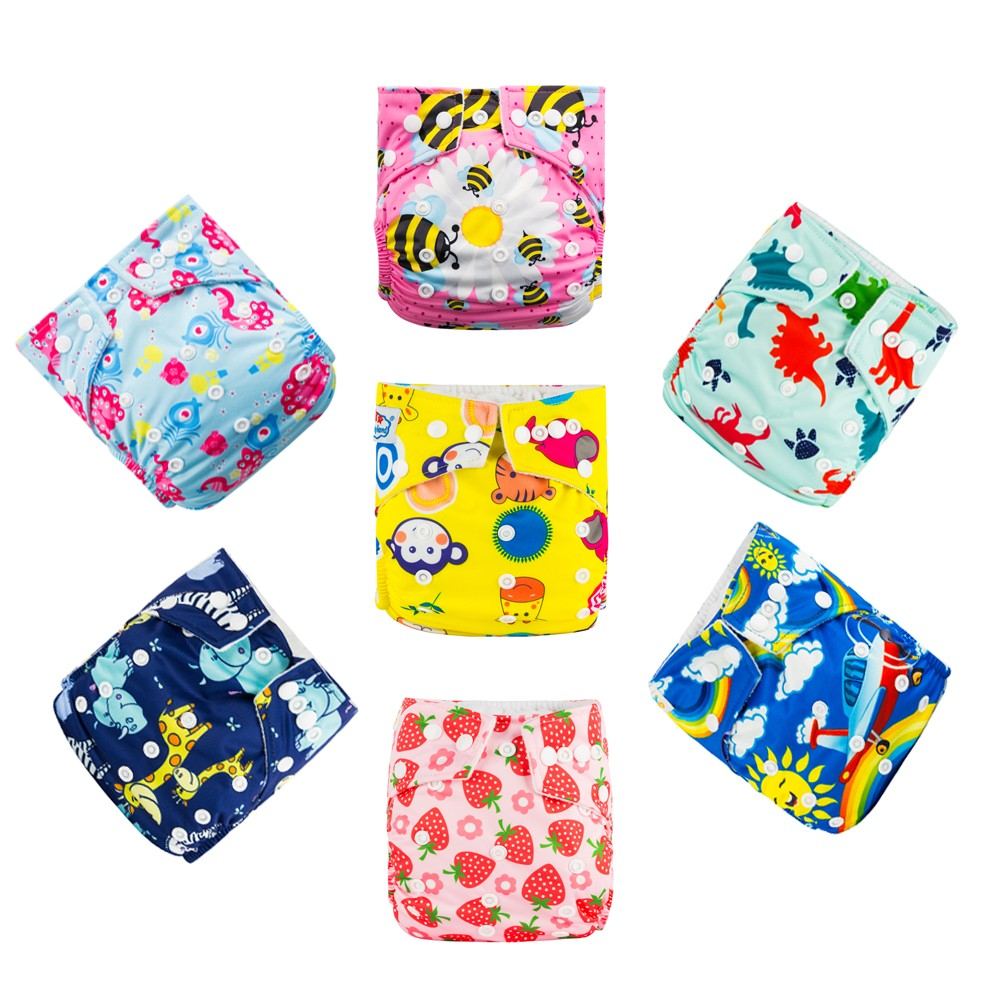 Babyland Diapers - Covers 15pcs/Lot Adjustable Cloth Nappy ECO-Friendly Baby Diapers For 0-2 Years Old Baby My Chioice Models