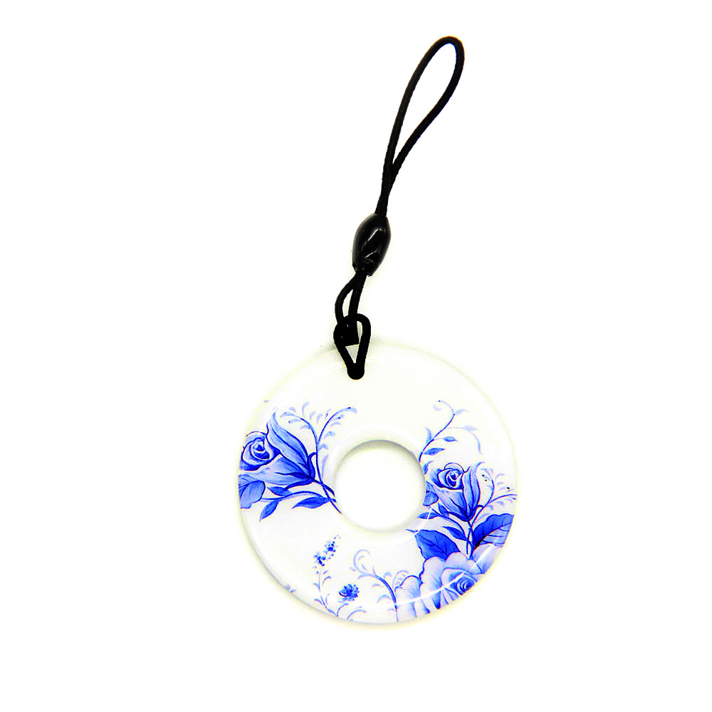 1pcs EM4100 TK4100 RFID Read Only Blue Dropping Glue Waterproof Key Ring 125khz ID Token Tag Access Control Tag Accessories