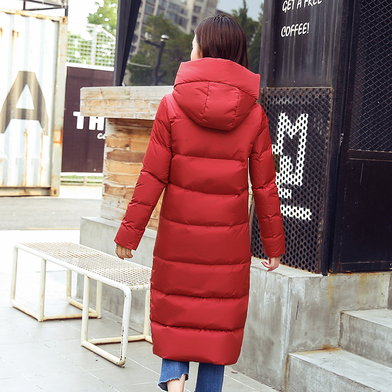 New Fashion 2020 Winter 90% Duck Down Jacket Women Parkas Long Hooded Thicken Plus Size Feather Jacket Overcoat LX979