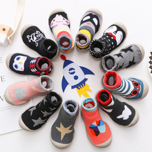 Baby toddler shoes socks baby non-slip floor socks shoes children soft rubber sole thickening terry baby shoes