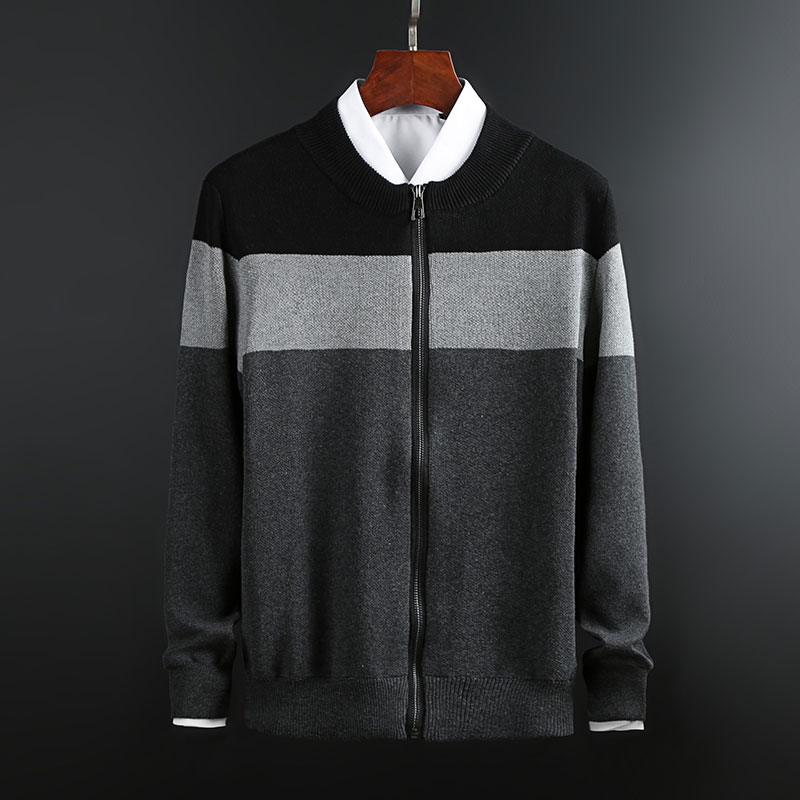 2019 New Fashion Brand Sweaters Men's Cardigan Warm Slim Fit Jumpers Knitwear  Zipper Autumn Korean Style Casual Men Clothes