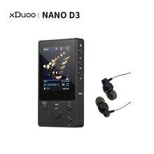 Leitor de música sem perdas hd portátil do leitor de música de xduoo nano d3 hi fi hi res leitor de mp3 flac wav dsd jogador mp3 8gb