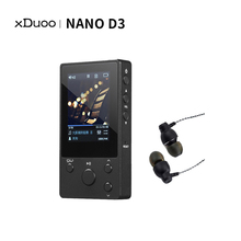 XDuoo reproductor de música NANO D3 hi fi, reproductor de mp3 de alta resolución, portátil, HD, sin pérdidas, flac wav, dsd, mp3, 8gb