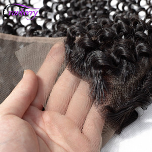 Image 4 - クランベリー毛ディープウェーブバンドル前頭13x4耳に耳レースバンドルとペルー人毛バンドルと閉鎖