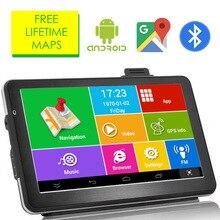 """Ориана """" дюймовый Android четырехъядерный 16 ГБ Автомобильный gps навигатор Sat Na AV-IN Bluetooth wifi FM передатчик Комплект бесплатные карты"""