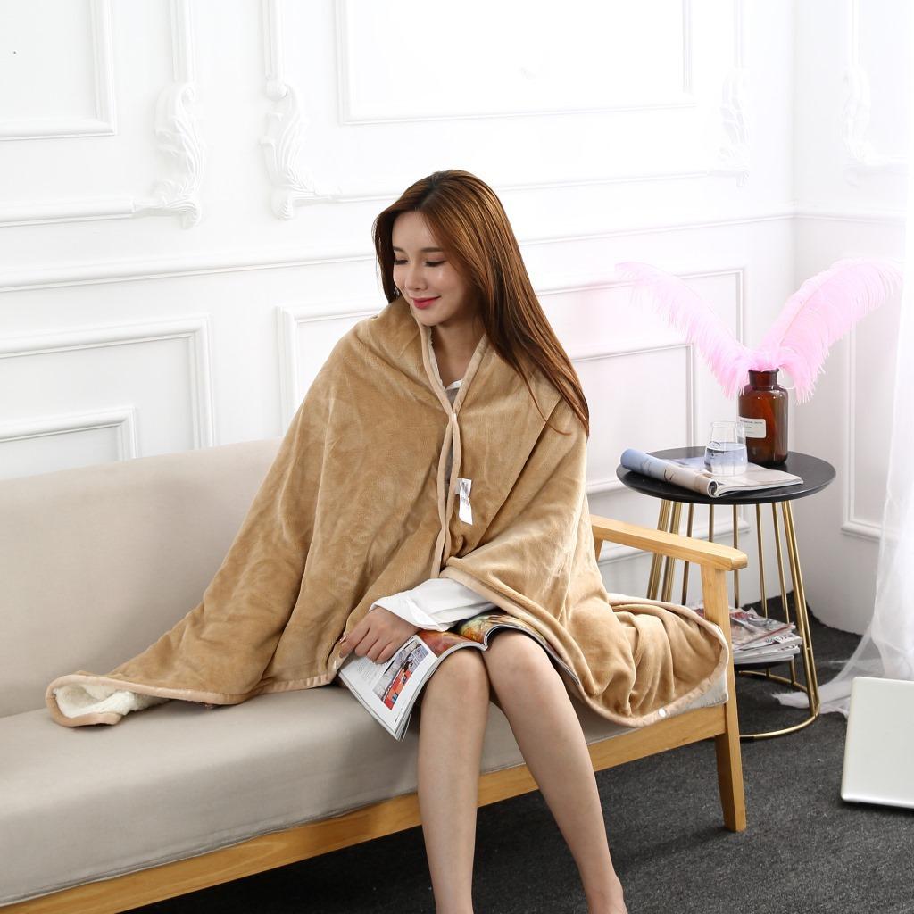 Flannel Blanket Hoodie Travel Totoro Blanket Soft Fuzzy Fluffy Blankets Sweatshirt Solid Winter Warm Fleece TV Blankets for Beds 11