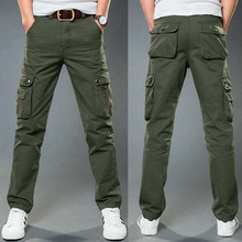 Ymwmhu Camouflage Breathable Cotton Pants Men Multi-pocket A