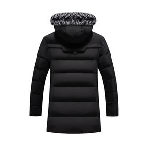 Image 5 - Chaqueta de invierno para hombre y mujer, abrigo grueso y delgado informal, Parkas con capucha, abrigos largos, Parka con cuello de piel, prendas de vestir