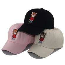 Stickerei tanzen panda baseball cap mode cartoon casual snapback hut baumwolle einstellbare hip hop dad hüte unisex(China)