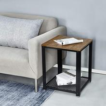 End of Sofa Coffee Table Bedside Table Living Room Table Vintage Style Industrial Wooden Iron Metal Coffee Tables Home Furniture coffee tables 3pcs metal tables set sofa couch living room side end minimalist modern ottoman bedroom night stand home furniture
