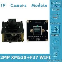WIFI 무선 AP xw530 + F37 1080P 25FPS IP 카메라 모듈 보드 미니 렌즈 3.7mm 지원 128G SD 카드 양방향 오디오 CMS XMEYE