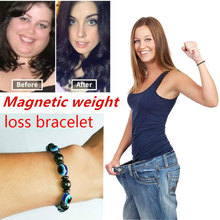 Magnetic therapy Health care Loss Weight Effective Black Stone Bracelets slimming Anti-Fatigue Stimulating Acupoints
