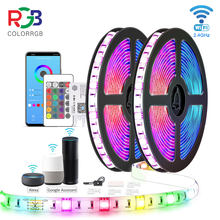 ColorRGB ,LED Strip Lights, WIFI SMD5050 Work with Alexa Google Assistant Phone APP Dimmable color