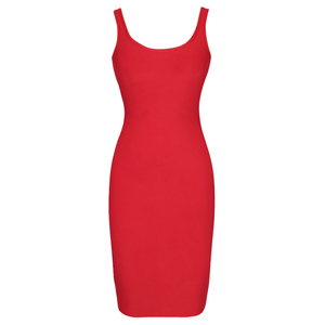 Image 5 - Ocstrade Red Bandage Dress 2019 New Arrivals Autumn Winter Midi Bandage Dress Sexy Spaghetti Strap Bodycon Club Party Dress