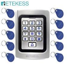 Retekess T-AC04 ip68 à prova dip68 água de metal rfid porta controle acesso teclado silicone porta entrada segurança leitor rfid 125khz em cartão