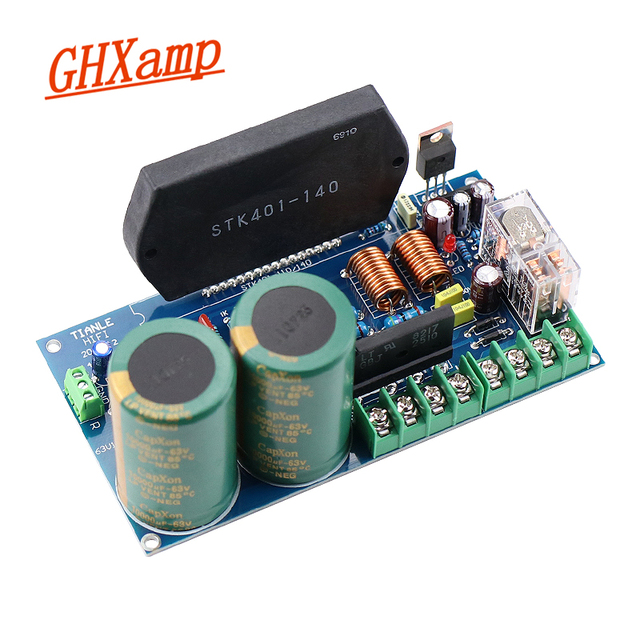 GHXAMP STK401 140 Thick Film Music Power Amplifier Board High Power 120W+120W with UPC1237 speaker protection