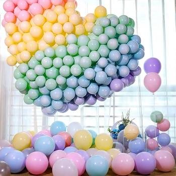 30pcs Macarons Latex Ballon Balony Birthday Party Candy Balloons Birthday Party Decorations Girl Boy Baby Shower Wedding Golobos