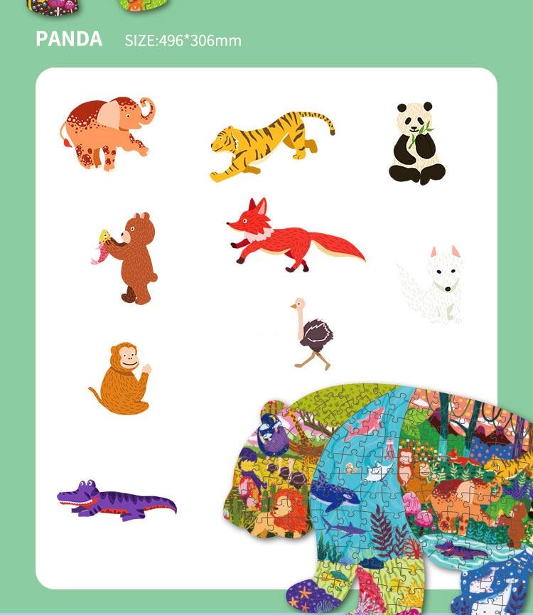 Quebra-cabeça infantil, animal, formato especial, dinossauro, baleias,