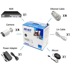 Image 5 - Amorvue 8CH 5MP POE カメラシステムリモートアクセス 5MP Ir 屋外弾丸 IP カメラ防水ナイトビジョンビデオ監視セット