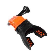 Топ зубья подтяжки держатель рот крепление с плавающей для GoPro Hero SJCAM серфинг дайвинг камера аксессуары