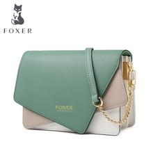 FOXER панельная сумка на плечо, Женская Роскошная Сумка через плечо из спилка, стильная Высококачественная сумка-мессенджер, кошелек для леди 954039F