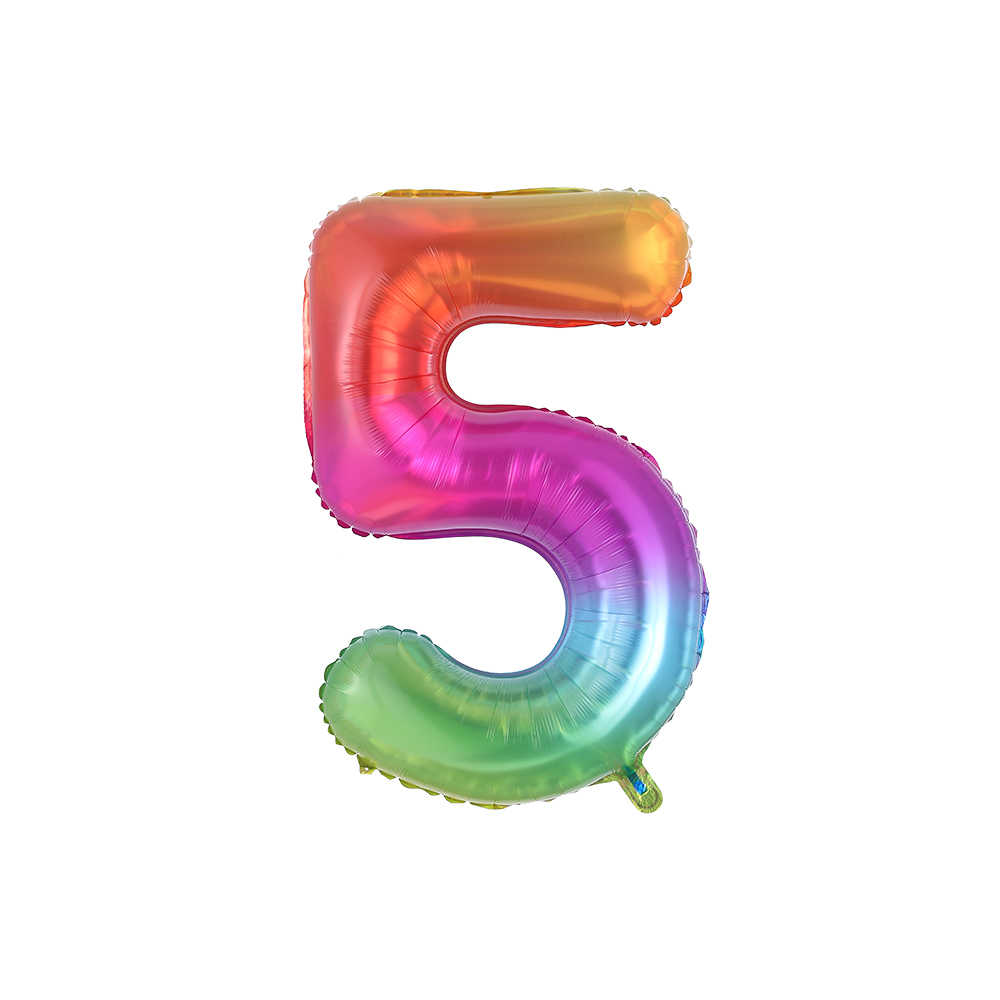 40 بوصة جديد قوس قزح عدد احباط بالونات سعيد حفل زفاف وعيد ميلاد الديكور الكبار الملونة يونيكورن بالونات الاطفال هدية