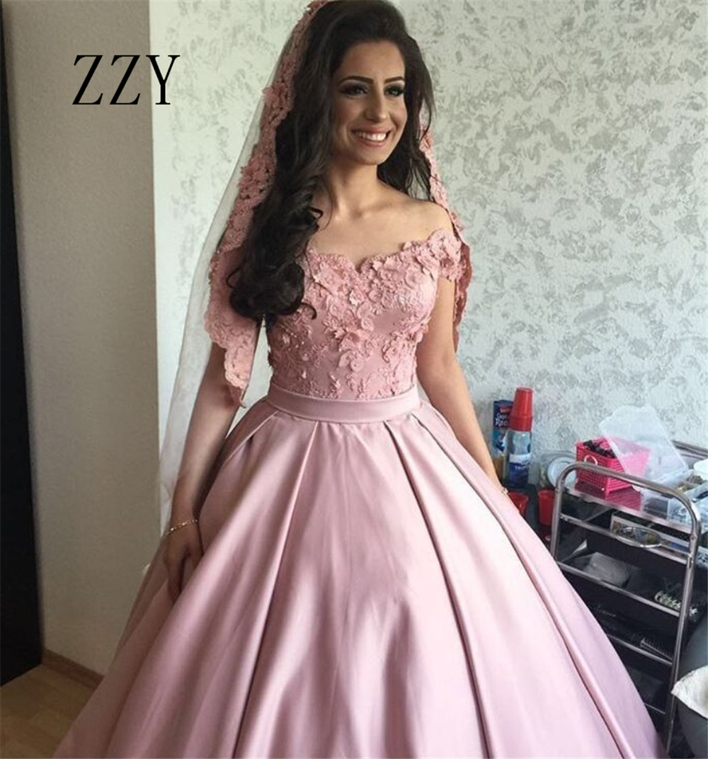 Excellent Off The Shoulder Quinceanera Dresses Appliques Beading Sashes Satin Ball Gown Girl's Pageant Dress Formal Party