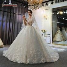 Robe mariage femme 2020 vestido de casamento de renda completa vestidos de noiva para a noiva