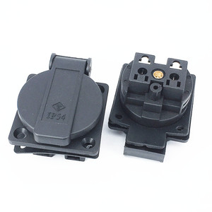 Waterproof IP54 250v 16A Germany PDU UPS eu power desktop outlet connector Embedded electrical Panel Receptacle AC socket plug(China)