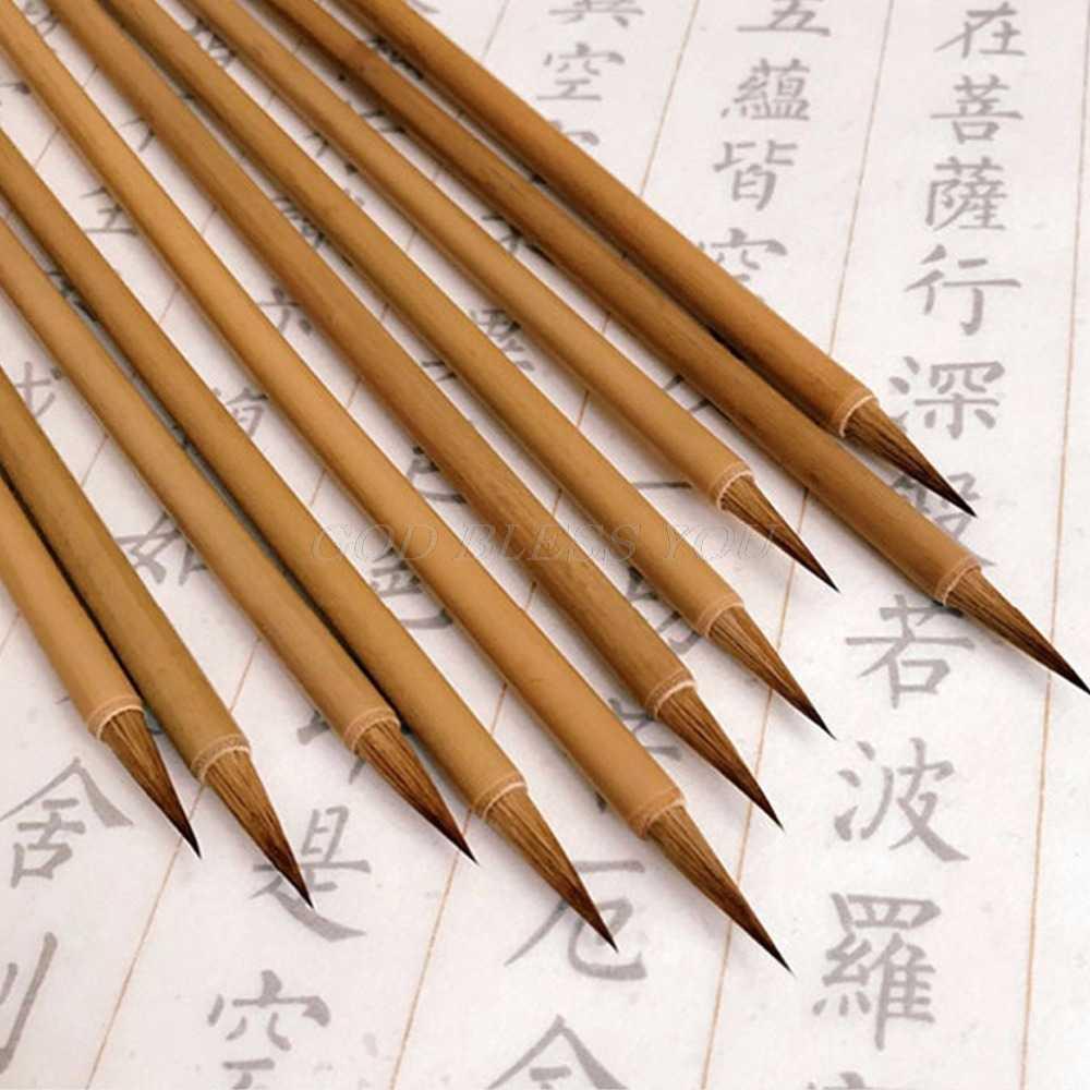 Lebih Mudah Hidup Kaligrafi Cina Kecil Reguler Script Sikat Pena Menulis Lukisan Wolf Rambut