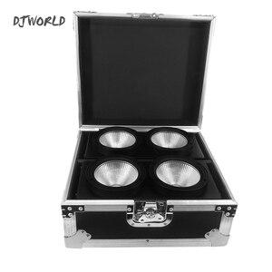 Djworld 2 глаза 200 Вт LEDCOB ослепляющий свет с Flightcase холодный и теплый белый цвет для Dj День рождения Свадебная Дискотека мяч