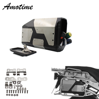 All New For BMW R1250GS R1200GS adv LC Adventure 2014-2019 Decorative Aluminum Box Toolbox 4.2 Liters Tool Box Left Side Bracket