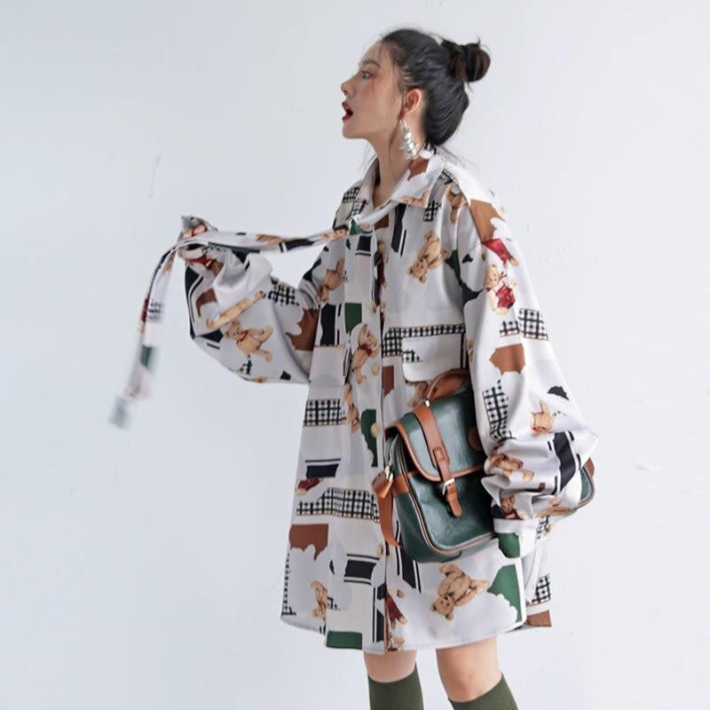 TVVOVVIN grande taille imprimer Bandage Bow Blouse femmes vêtements 2019 lâche à la mode minorité élégant petit haut automne coréen F739