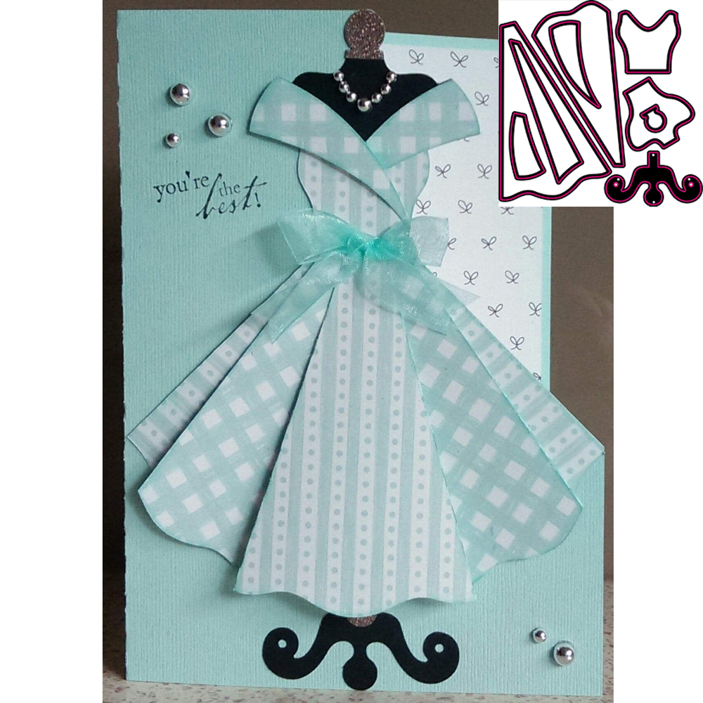 Beautiful 9Pcs Set Cute Princess Dress Metal Cutting Dies Scrapbooking  New Craft Stamps die Cut Embossing Card Making Stencil