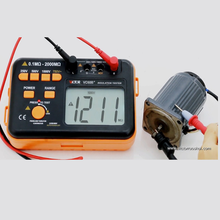 RuoShui 60B+ Digital Insulation Resistance Tester 1000V Megger Test DC AC 2000m Ohm High