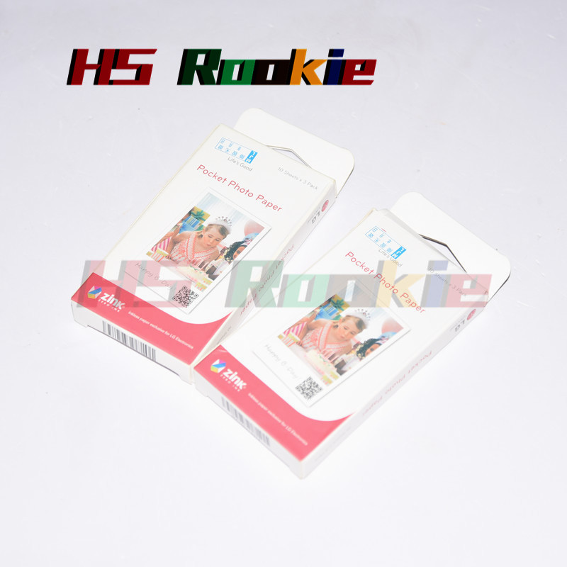 ORIGINAL 60 Pieces photographic papers Zink PS2203 Smart Mobile Printer for LG Photo Printer PD221 PD251 PD233 PD239 Print Paper image