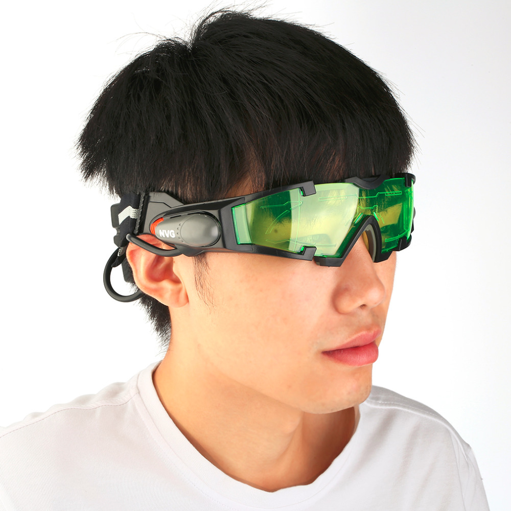 Goggles Eye-Lens-Glasses LED with Flip-Out-Lights for Men Women Night-Vision Adjustable
