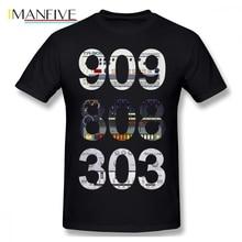 909 808 303 Acid Techno Men T Shirt DropShipping Homme Guy Oversize Cotton Short Sleeve Custom T-shirt