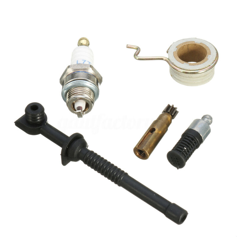 Oil Pump Worm Gear Fuel Hose Filter Kit For Stihl MS180 MS170 018 017 Chainsaw Gear Fuel Filter Tubing Kit