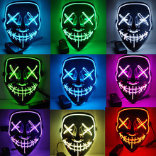 2019 New Year Cosplay LED Light Mask Up from The Purge Election Year Great for Festival Cosplay Halloween Costume