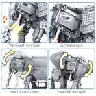 Erbo 1542 Pcs Creative Bouwstenen Fit Lego Technic Rc Afstandsbediening Olifant Dier Elektrische Bricks Speelgoed Voor Kinderen - 6