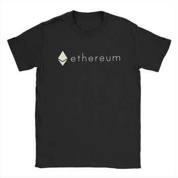 T-Shirts Ethereum Crypto Currency Cryptocurrency Men's Short Sleeve Present T Shirt 100% Cotton Tee Shirts S-5XL O-Neck 1