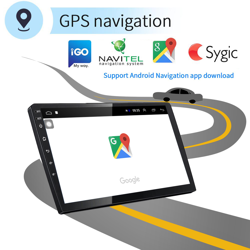 AMPrime 10,1 ''Android 2 ГБ + 16 Гб 2Din автомобильный мультимедиаплеер 2 din автомобильное радио Зеркало Ссылка gps стерео MP5 Bluetooth wifi FM AM радио