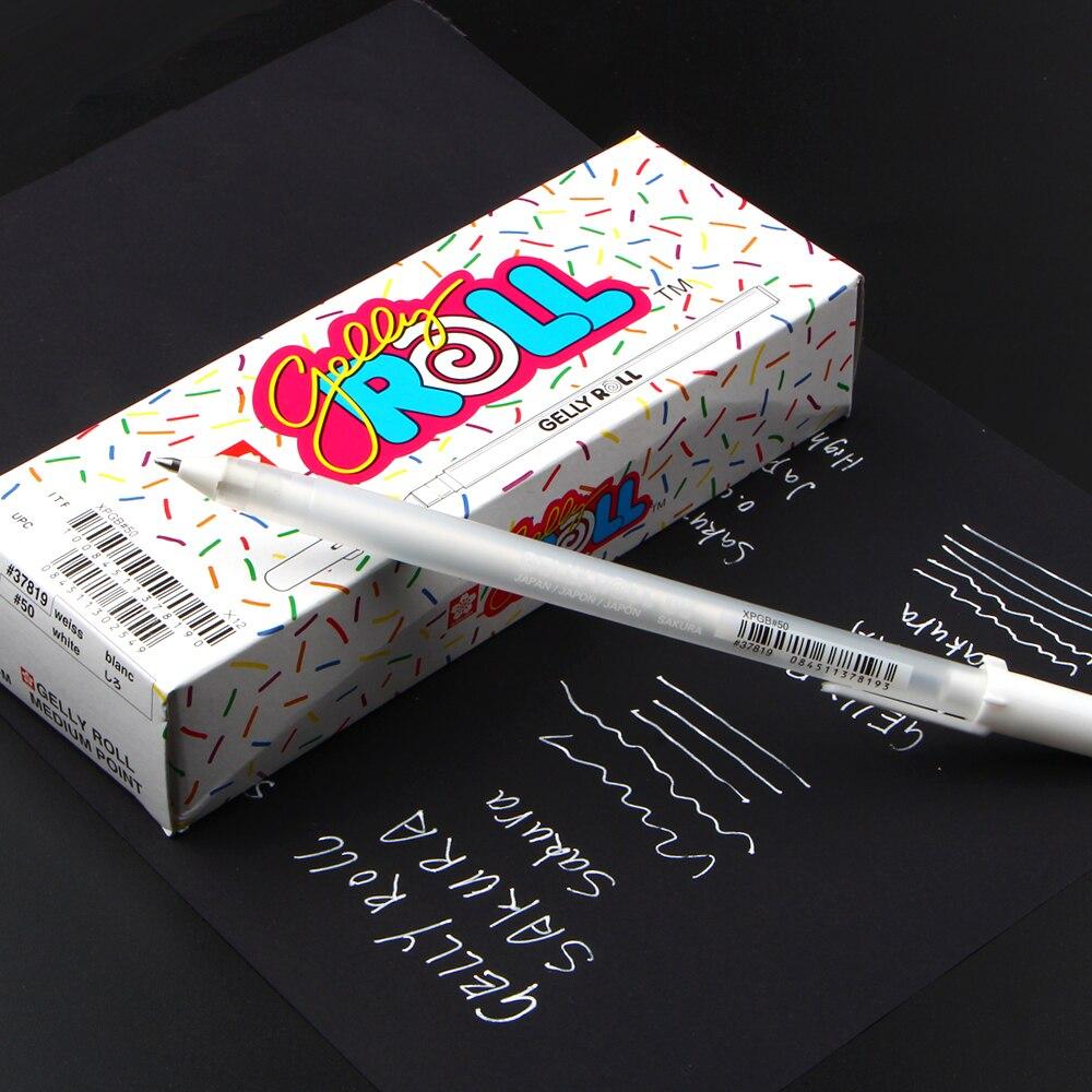 Livraison gratuite japon importé rouleau de gelée 0.8mm blanc Gel stylo mettre en évidence doublure pour Art marqueur conception bande dessinée/manga peinture fournitures