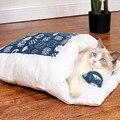 Съемная кровать для кошек, спальный мешок для кошачьего туалета, товары для дома, большая кровать для домашнего питомца, удобная Лежанка для...