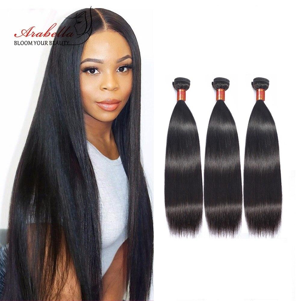 Arabella Hair s 3/4 Bundles 100%   Bundles 1B  Straight Hair   Hair s Bundles 1