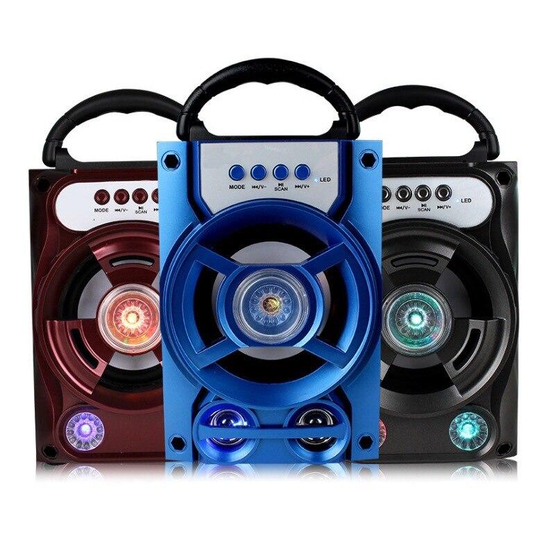 Sistema de Som estéreo de desktop portátil sem fio Bluetooth Speaker Altifalante 5W Falante Estéreo Com Microfone FM Festa Ao Ar Livre