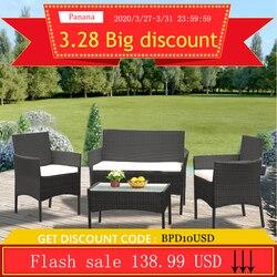 Panana rotin canapé chaise Table ensemble de 4 offre spéciale meubles de jardin en osier Table basse rotin canapé chaise tabouret livraison rapide